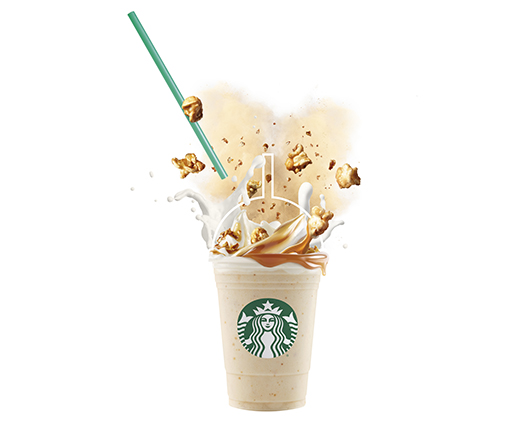 Starbucks surprises with its all-new Frappuccino® Caramel Popcorn