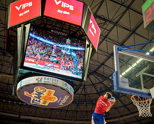 VIPS and the Spanish Basketball Federation promote sports in Malaga
