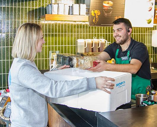 Starbucks collaborates with Hope Food and weSAVEeat to make use of excess fresh foods